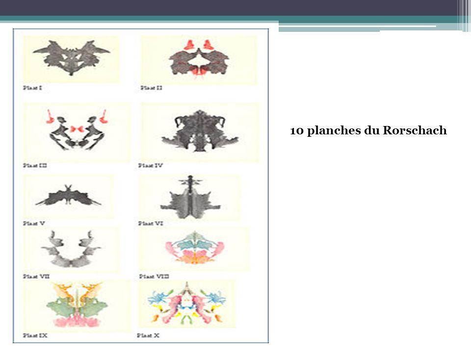 10 planches du Rorschach