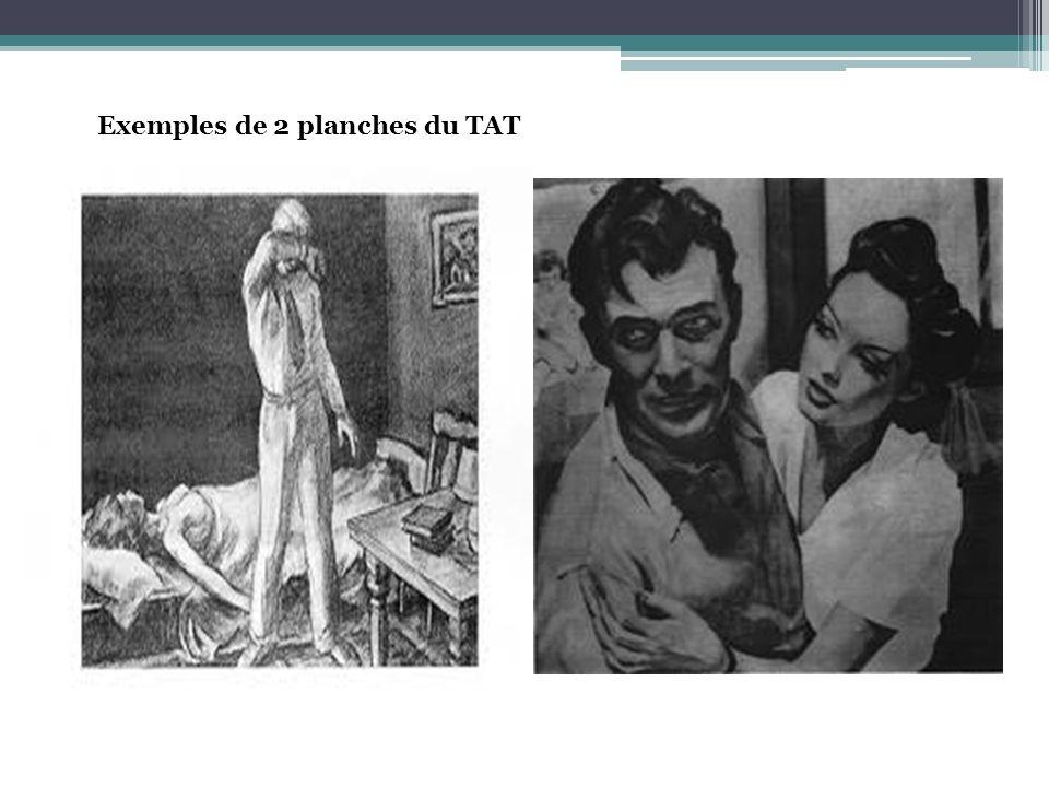 Exemples de 2 planches du TAT