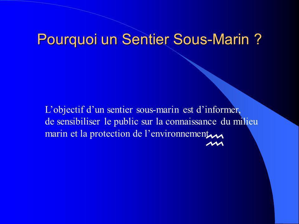 Pourquoi un Sentier Sous-Marin .