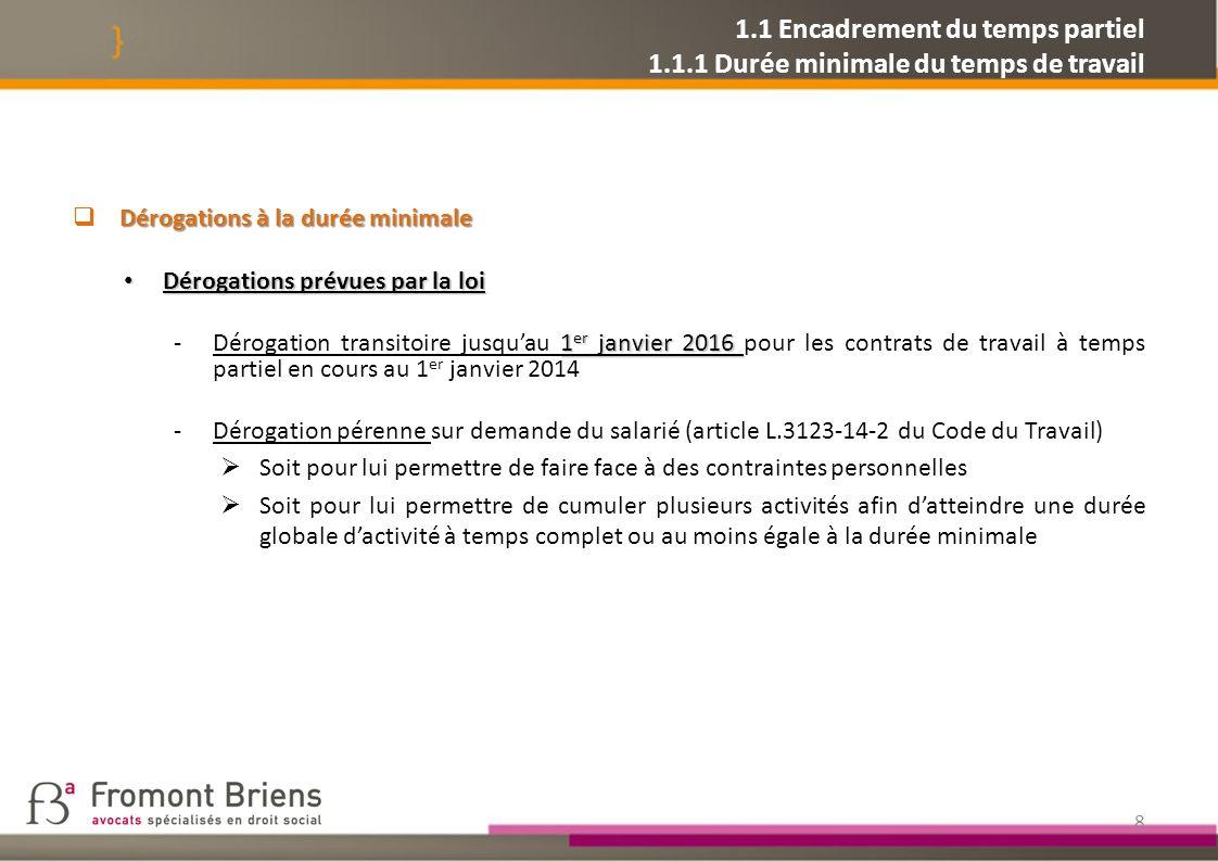 1.2 Modulation des cotisations dassurance chômage 1.2.1.