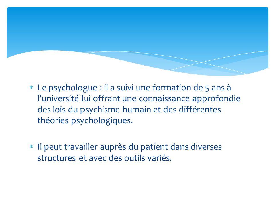 La psychologie : La psychologie se donne pour objet létude du comportement humain et de ce qui le sous-tend, à savoir le psychisme dans ses dimensions cognitive, affective et sociale, en déployant des méthodologies spécifiquement adaptées à létude de son objet.