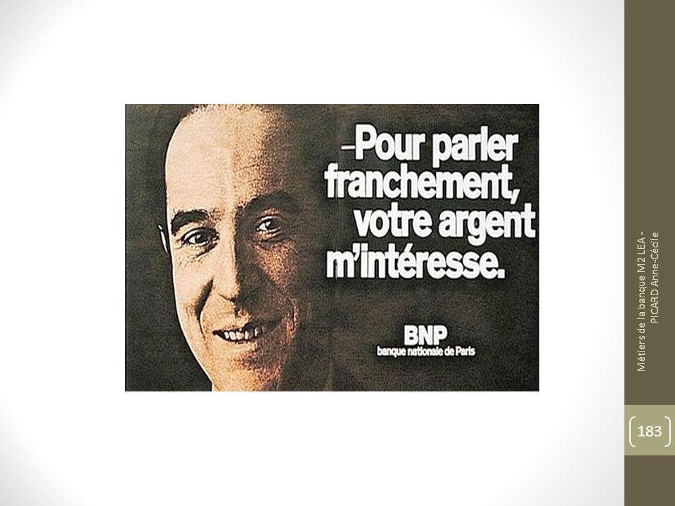 Métiers de la banque M2 LEA - PICARD Anne-Cécile 183