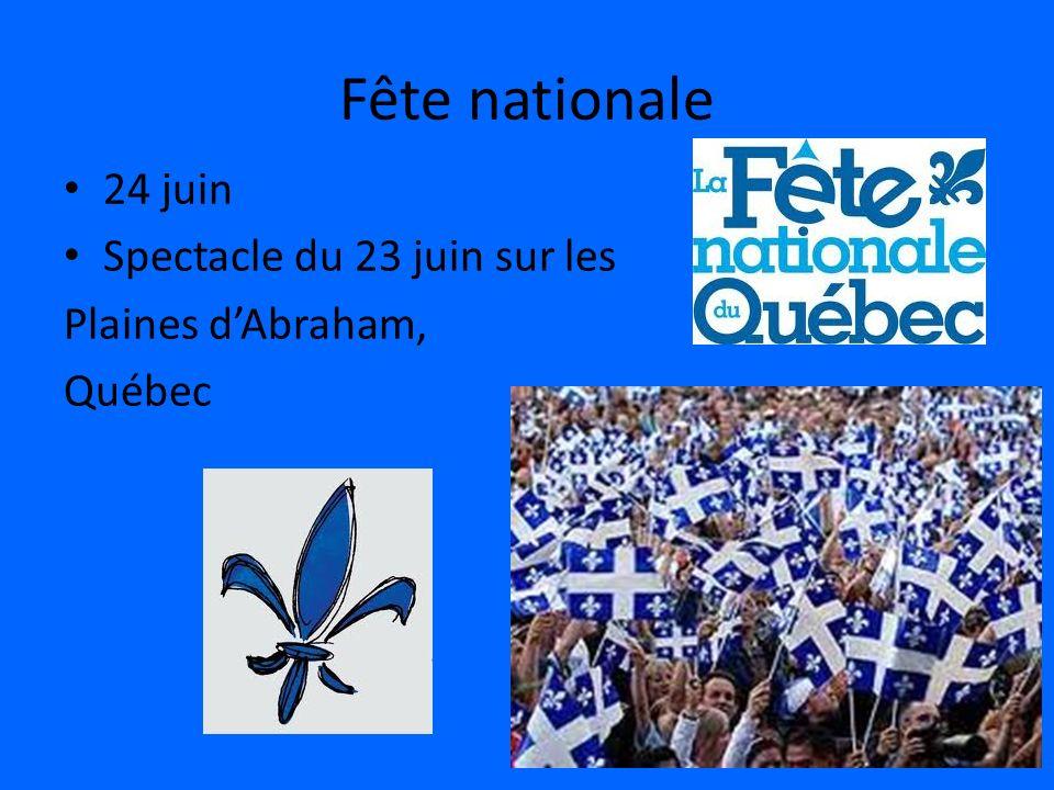 Fête nationale 24 juin Spectacle du 23 juin sur les Plaines dAbraham, Québec
