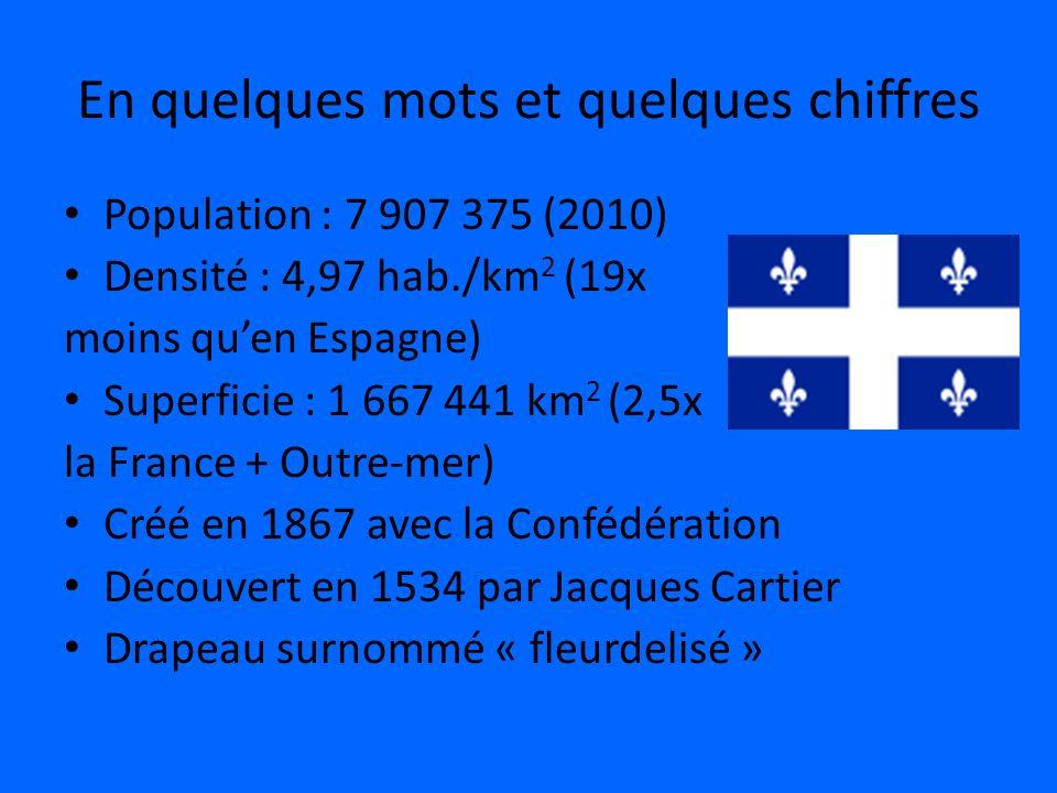 En quelques mots et quelques chiffres Population : 7 907 375 (2010) Densité : 4,97 hab./km 2 (19x moins quen Espagne) Superficie : 1 667 441 km 2 (2,5