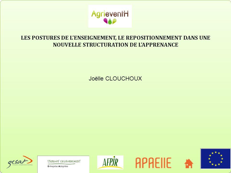 LES POSTURES DE LENSEIGNEMENT, LE REPOSITIONNEMENT DANS UNE NOUVELLE STRUCTURATION DE LAPPRENANCE Joëlle CLOUCHOUX