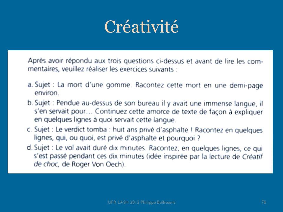 UFR LASH 2013 Philippe Bellissent78 Créativité