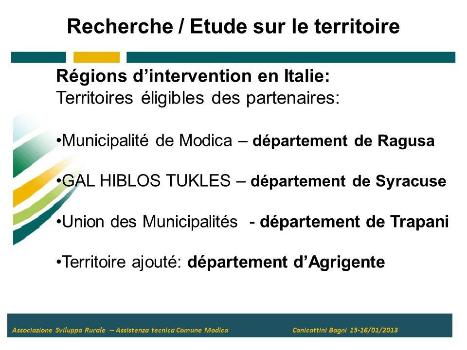 Merci pour votre attention Association Développement Rural Assistance technique Municipalité de Modica Siège statutaire – Campello sul Clitunno (PG) Siège opérationnel - Ispica (RG) Tél.