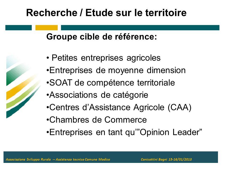Associazione Sviluppo Rurale -- Assistenza tecnica Comune Modica Canicattini Bagni 15-16/01/2013 6.