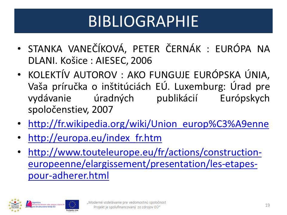 BIBLIOGRAPHIE STANKA VANEČÍKOVÁ, PETER ČERNÁK : EURÓPA NA DLANI.