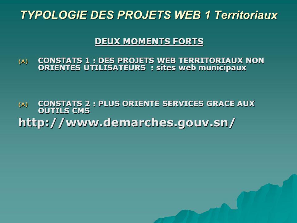 QUELLES PERSPECTIVES DE PROJETS TERRITORIAUX SOUS LANGLE DU WEB 2.0.