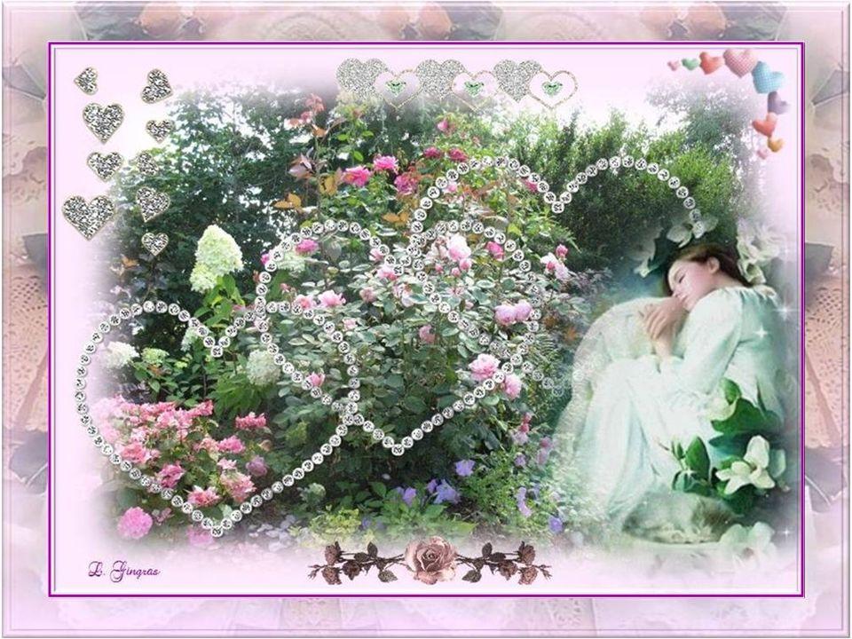 Je méloigne du grand jardin dombre; Sur le plus grand sentier du monde, Des cris doiseaux, des battements dailes, Beaucoup despoir dans ma main frêle…