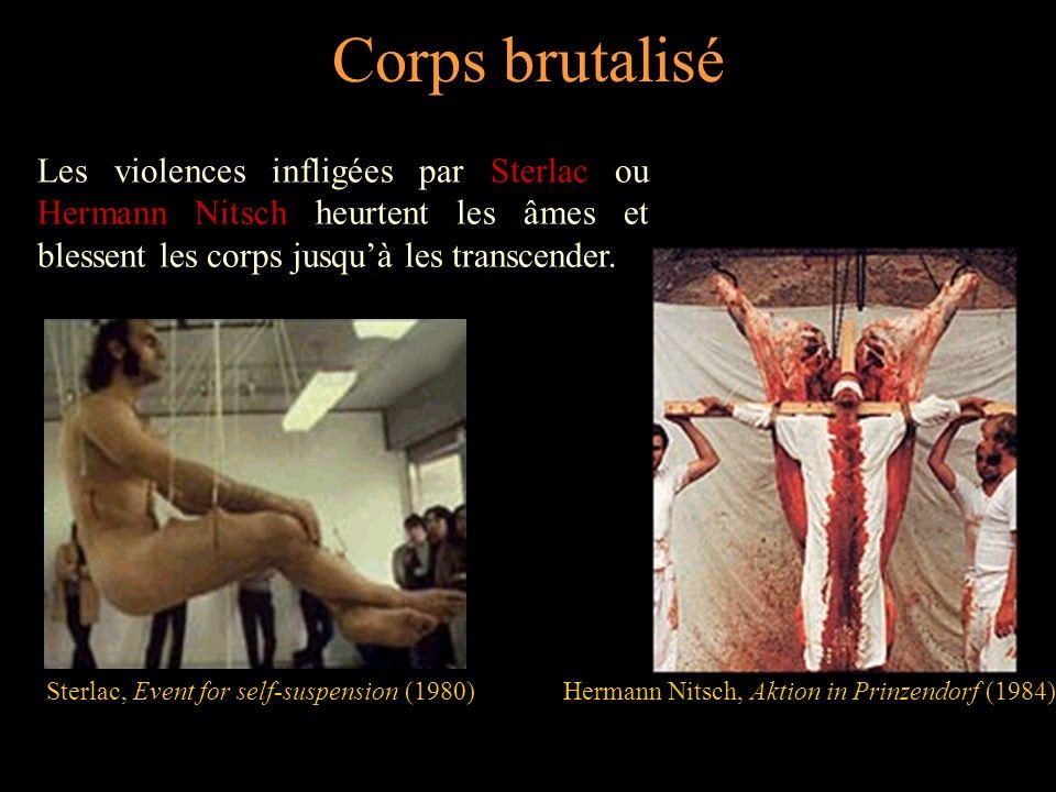 Corps martyrisé Mordu par Vito Acconci, coupé au rasoir par Gina Pane, ou blessé par balles par Chris Burden, le corps garde les traces de la souffrance.