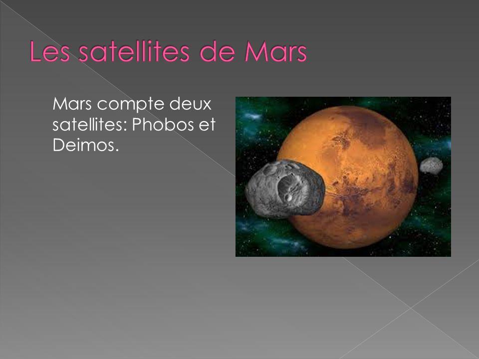 Mars compte deux satellites: Phobos et Deimos.