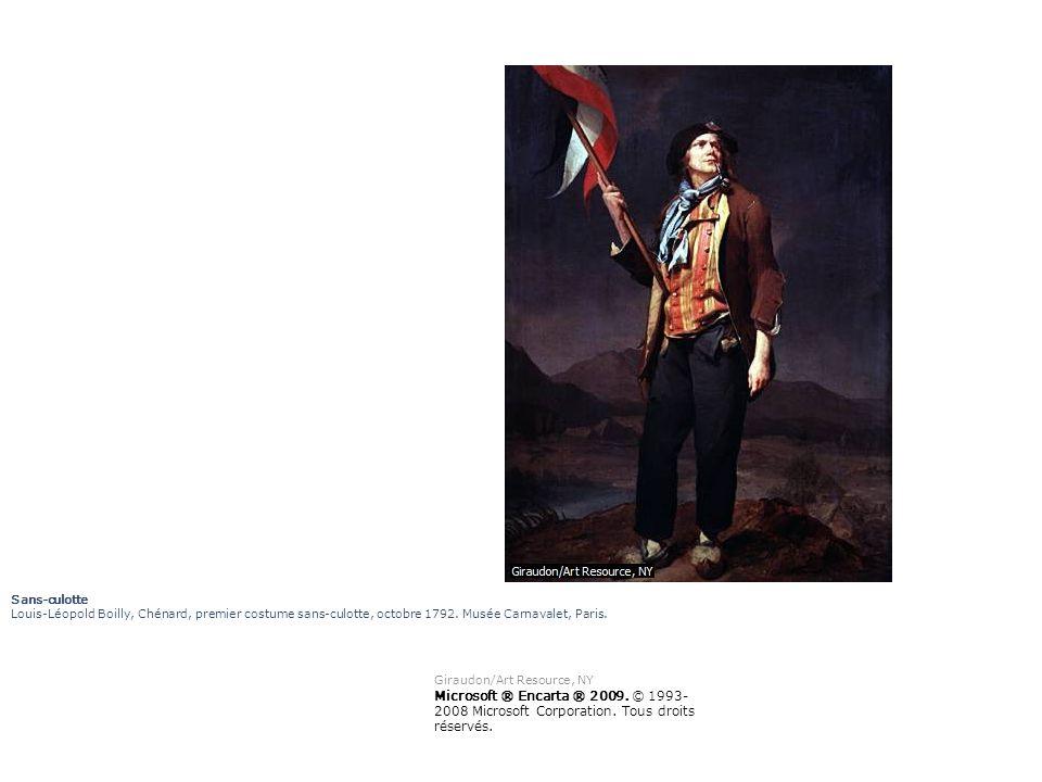 Sans-culotte Louis-Léopold Boilly, Chénard, premier costume sans-culotte, octobre 1792. Musée Carnavalet, Paris. Giraudon/Art Resource, NY Microsoft ®