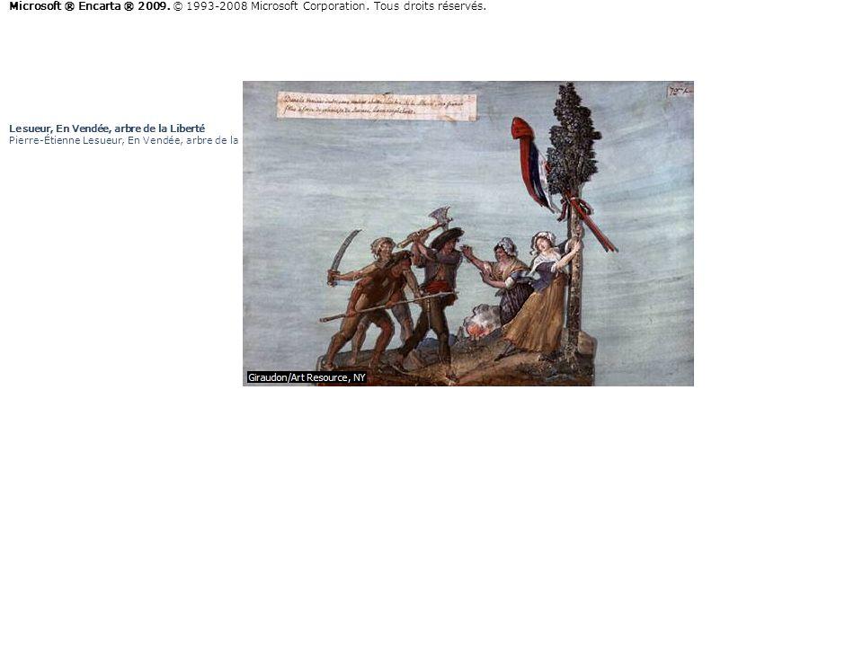 Lesueur, En Vendée, arbre de la Liberté Pierre-Étienne Lesueur, En Vendée, arbre de la Liberté. Gouache sur carton. Musée Carnavalet, Paris. Giraudon/