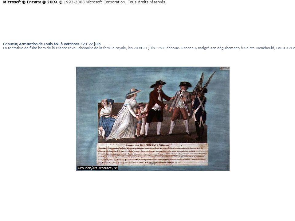 Lesueur, Arrestation de Louis XVI à Varennes : 21-22 juin La tentative de fuite hors de la France révolutionnaire de la famille royale, les 20 et 21 j