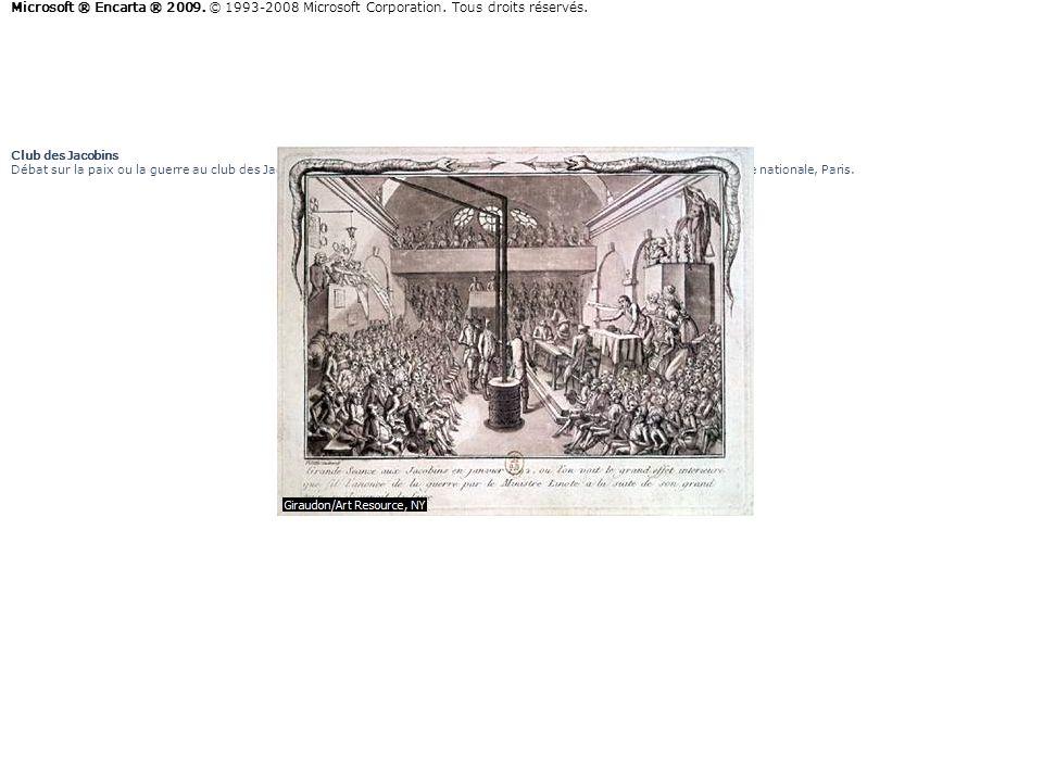 Club des Jacobins Débat sur la paix ou la guerre au club des Jacobins (janvier 1792), gravure satirique daprès un dessin de Vilette. Bibliothèque nati