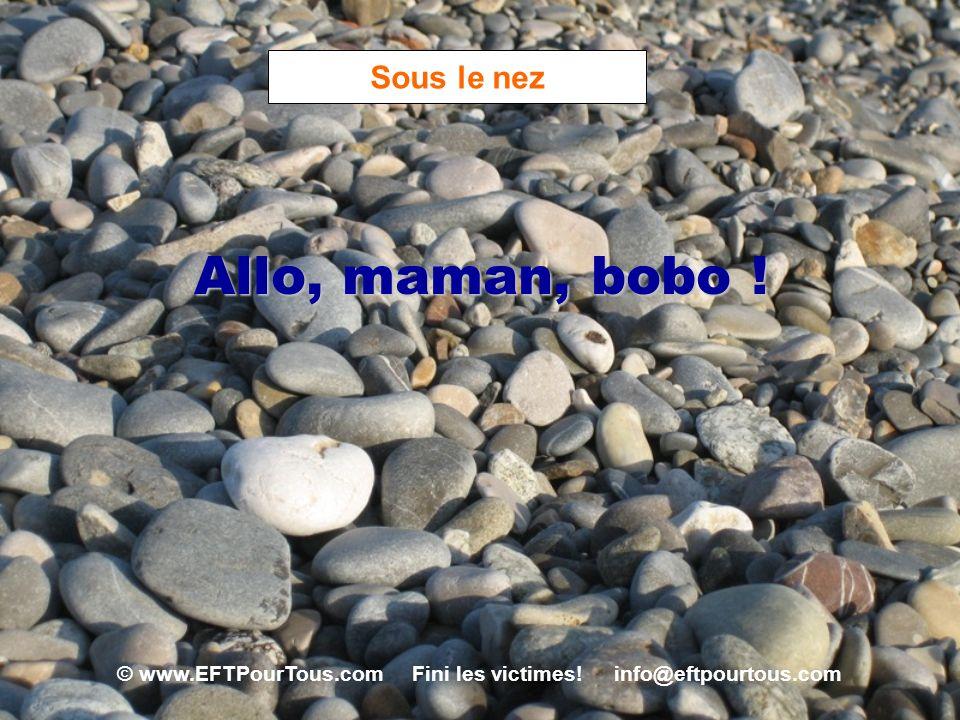 © www.EFTPourTous.com Fini les victimes! info@eftpourtous.com Sous le nez Allo, maman, bobo !