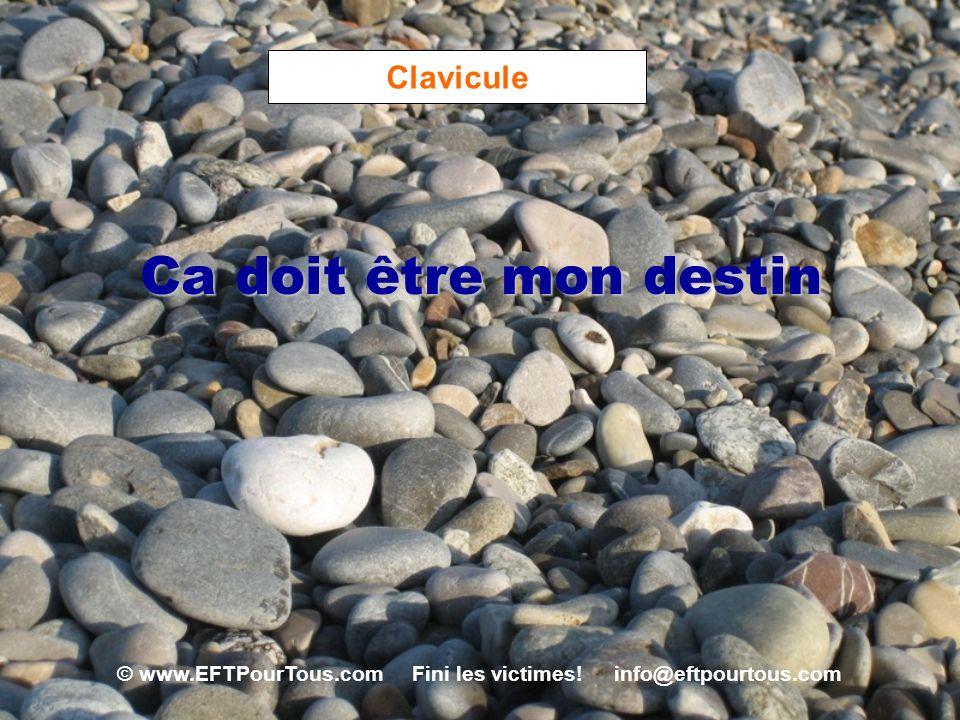 © www.EFTPourTous.com Fini les victimes! info@eftpourtous.com Clavicule Ca doit être mon destin