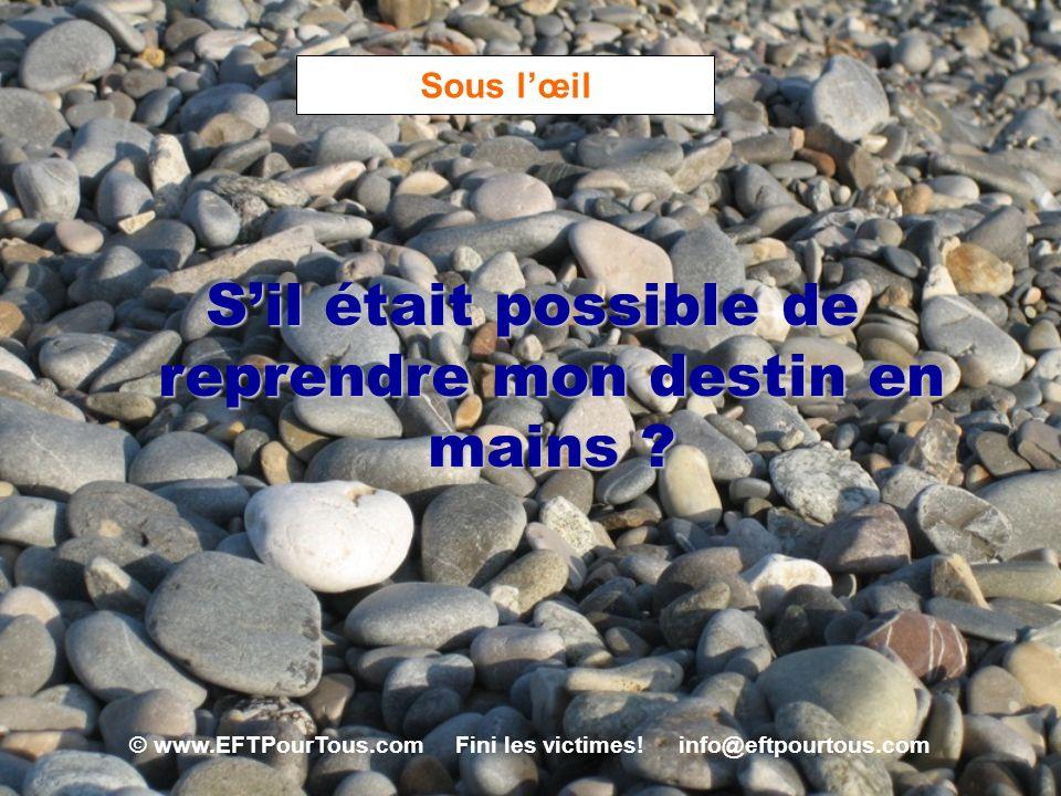 © www.EFTPourTous.com Fini les victimes! info@eftpourtous.com Sous lœil Sil était possible de reprendre mon destin en mains ?