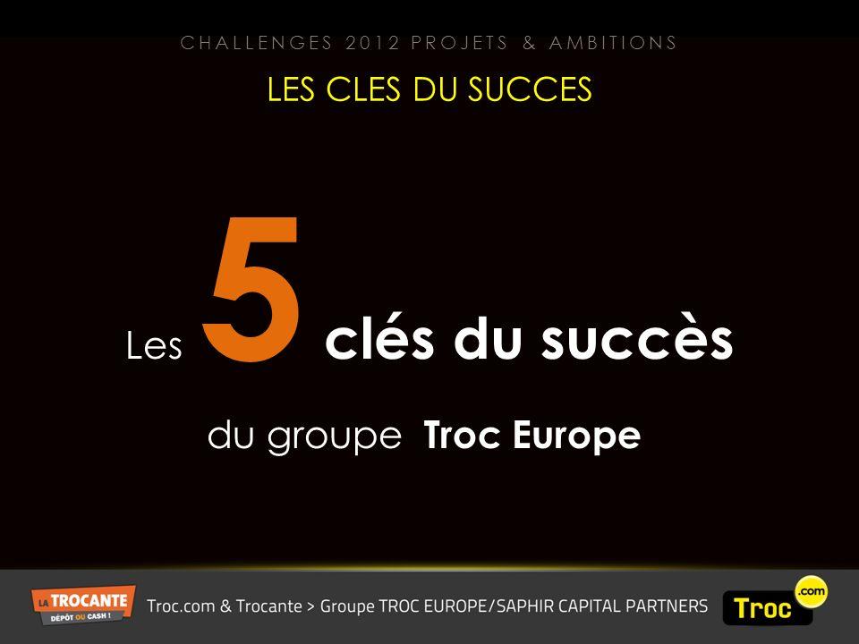 Les 5 clés du succès du groupe Troc Europe LES CLES DU SUCCES CHALLENGES 2012 PROJETS & AMBITIONS