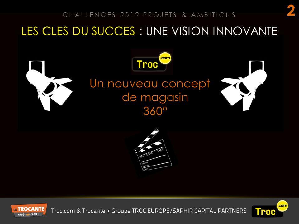 Un nouveau concept de magasin 360° LES CLES DU SUCCES : UNE VISION INNOVANTE CHALLENGES 2012 PROJETS & AMBITIONS 2
