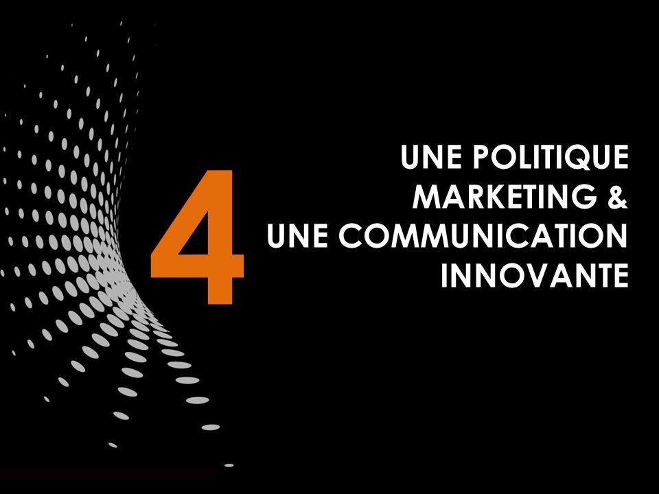 UNE POLITIQUE MARKETING & UNE COMMUNICATION INNOVANTE 4