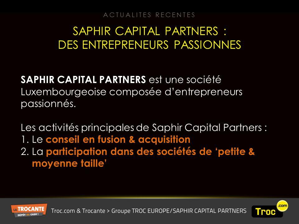 SAPHIR CAPITAL PARTNERS est une société Luxembourgeoise composée dentrepreneurs passionnés.