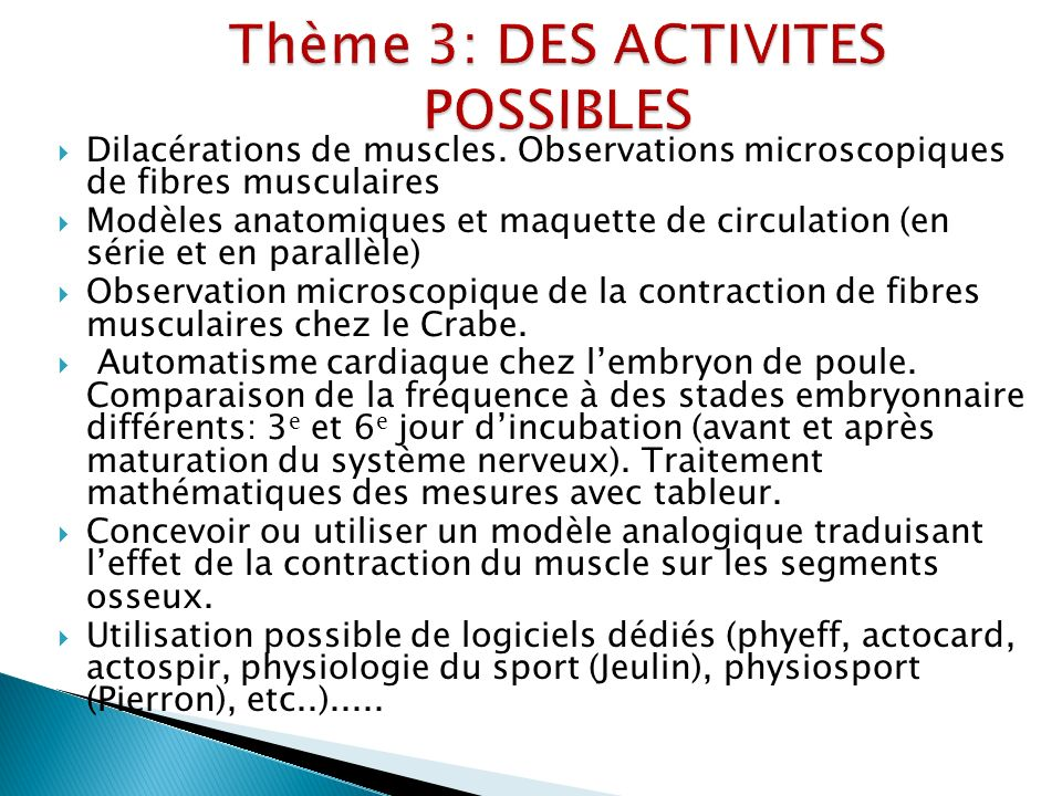 Dilacérations de muscles.