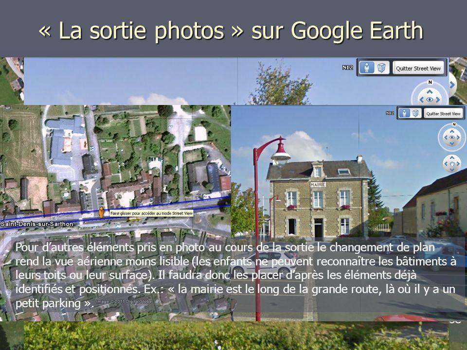 Après une sortie photo dans le quartier, on présente sur grand écran (idéalement, au TNI) une vue aérienne de la ville dans Google Earth.