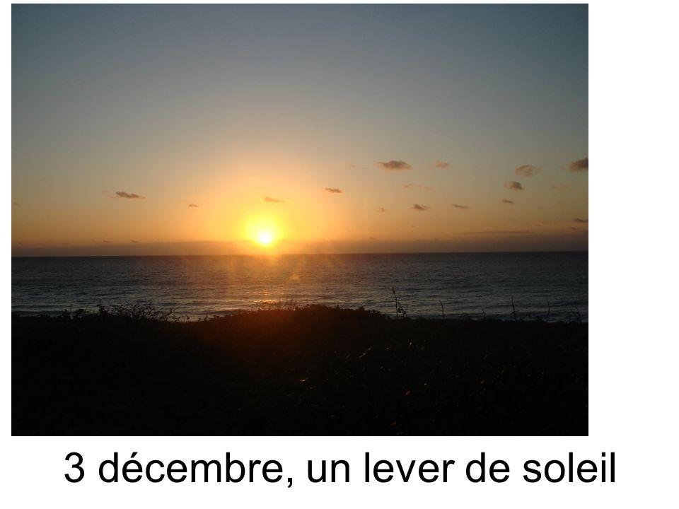 3 décembre, un lever de soleil