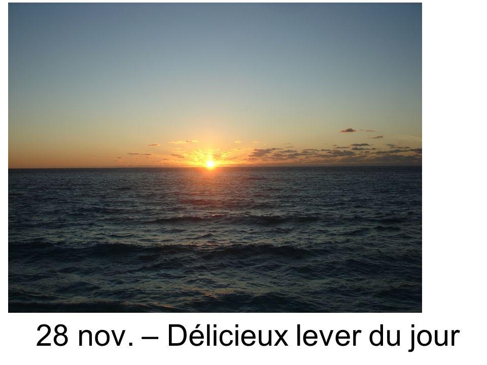 28 nov. – Délicieux lever du jour
