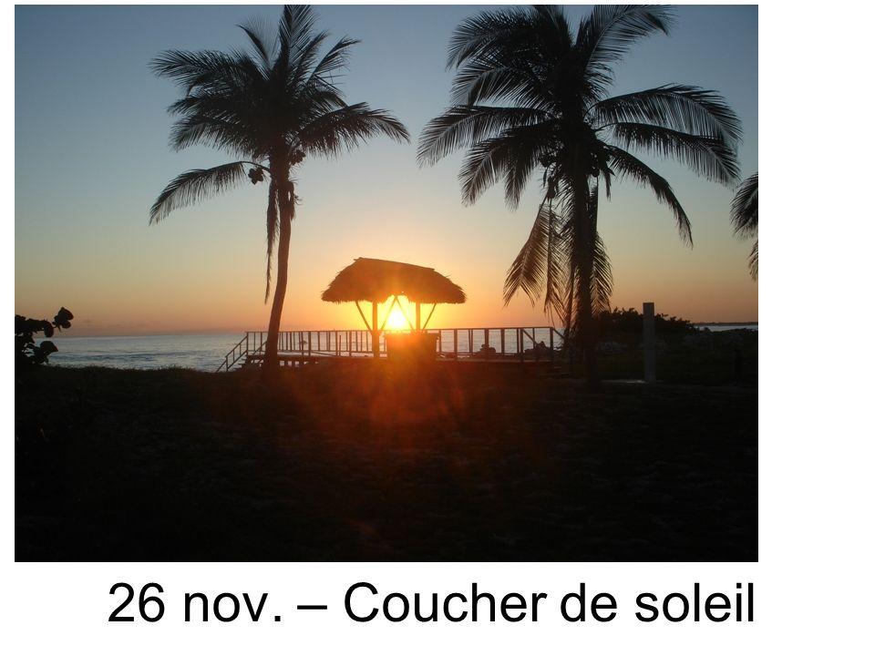 26 nov. – Coucher de soleil