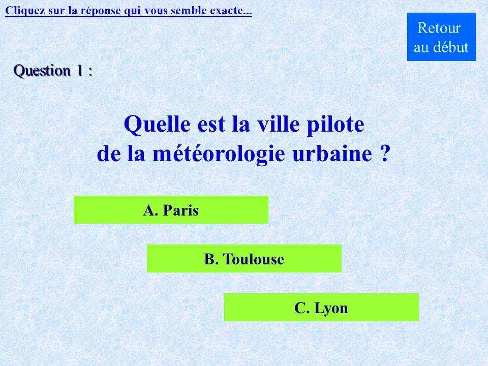 Groupe détudes de latmosphère météorologique GAME Cliquez ici pour commencer le quizz...