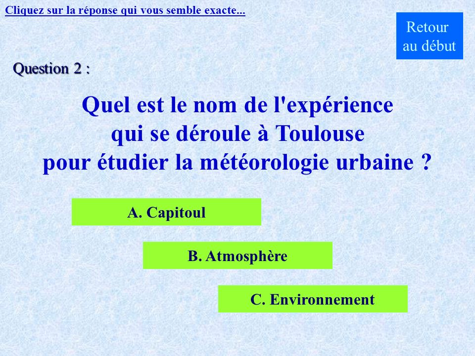 Réponse : Toulouse Suite Retour au début