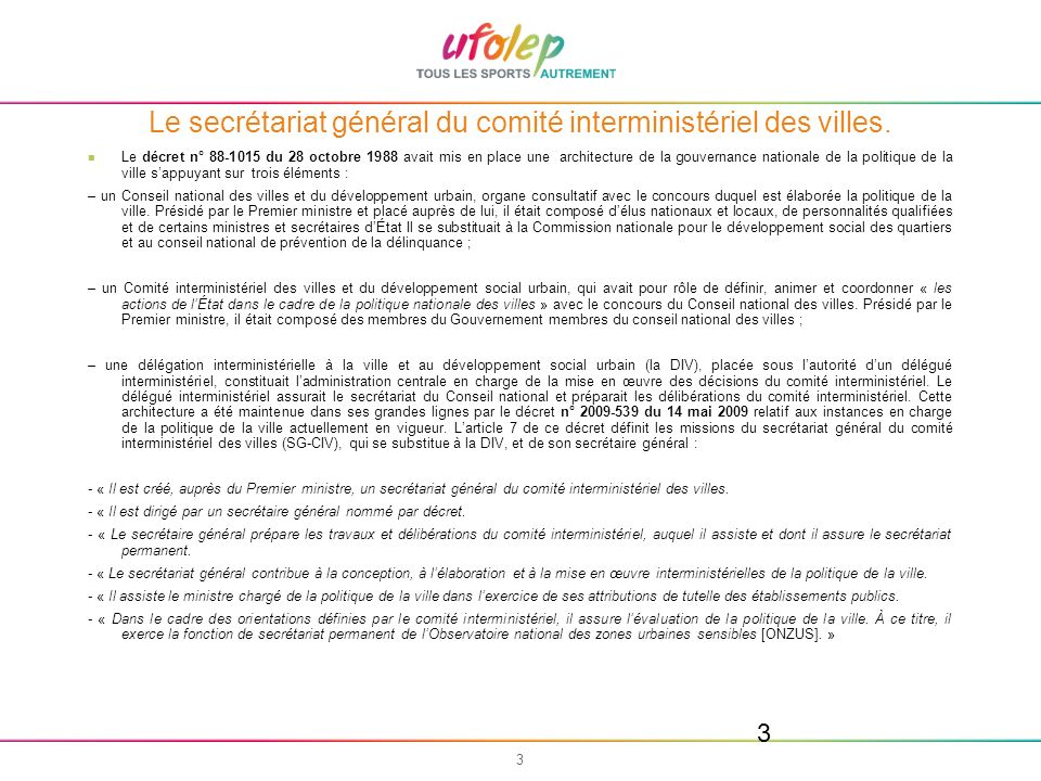 44 Financements et Dispositifs http://sig.ville.gouv.fr/ Contacts : www.ufolep.orgwww.ufolep.org