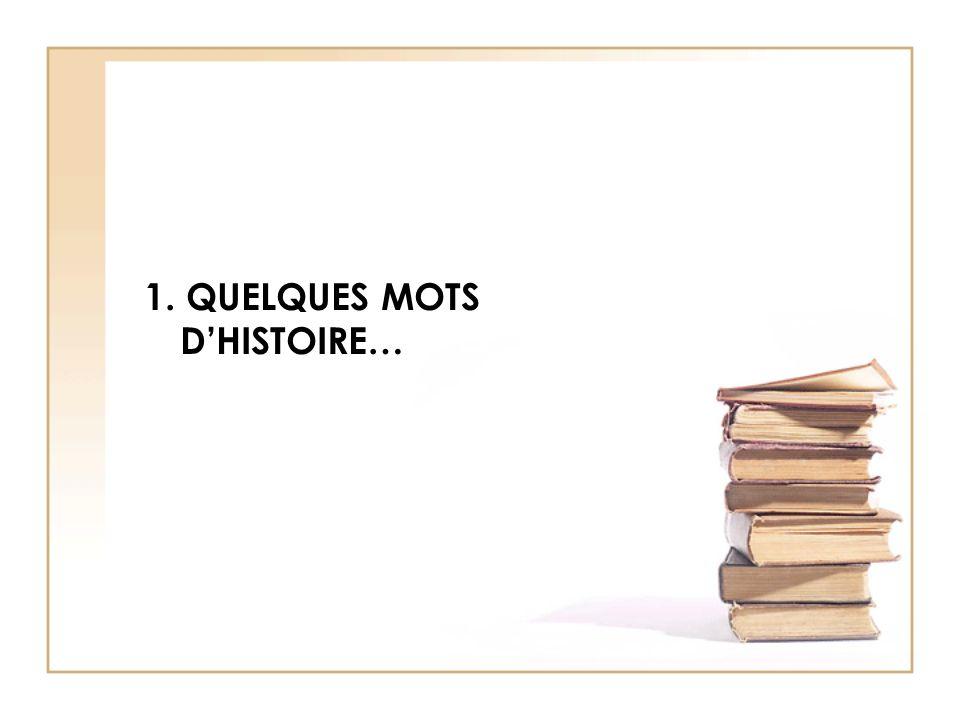 1. QUELQUES MOTS DHISTOIRE…