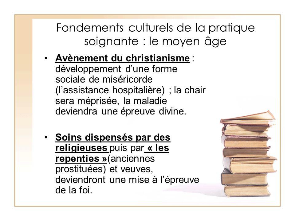 Fondements culturels de la pratique soignante : le moyen âge Avènement du christianisme : développement dune forme sociale de miséricorde (lassistance