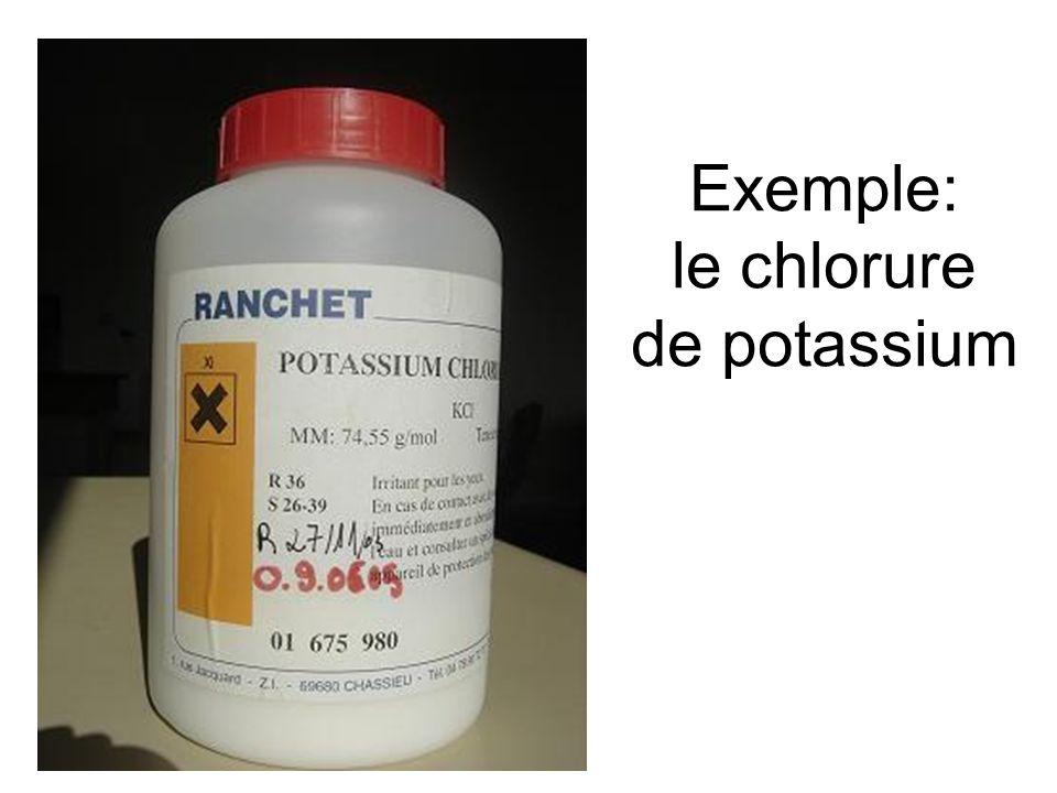 Exemple: le chlorure de potassium