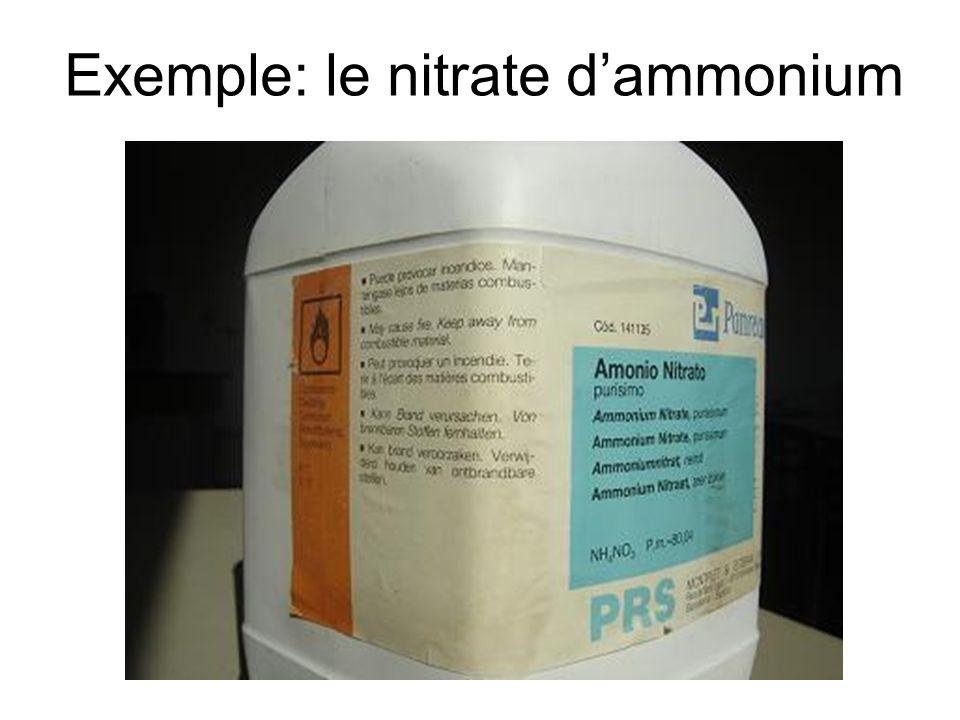 Exemple: le nitrate dammonium