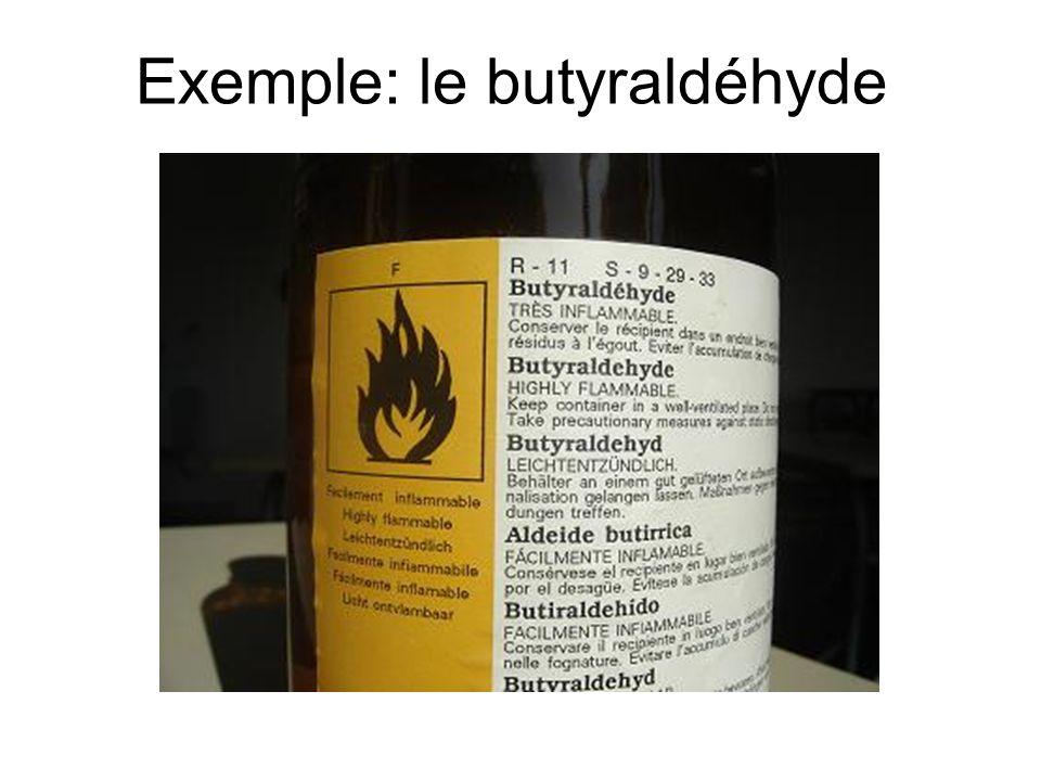Exemple: le butyraldéhyde