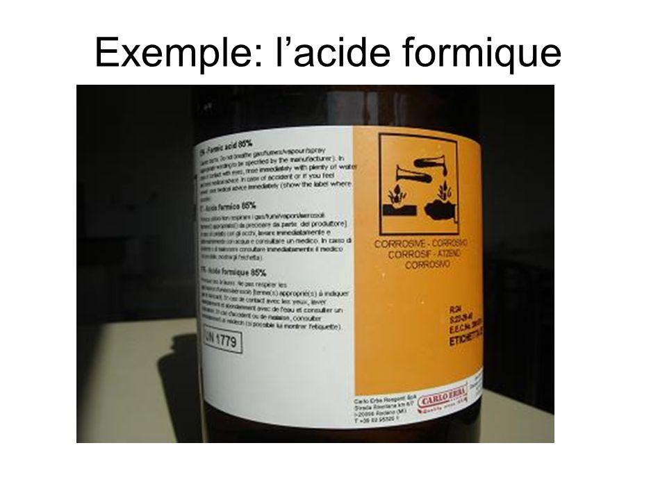 Exemple: lacide formique