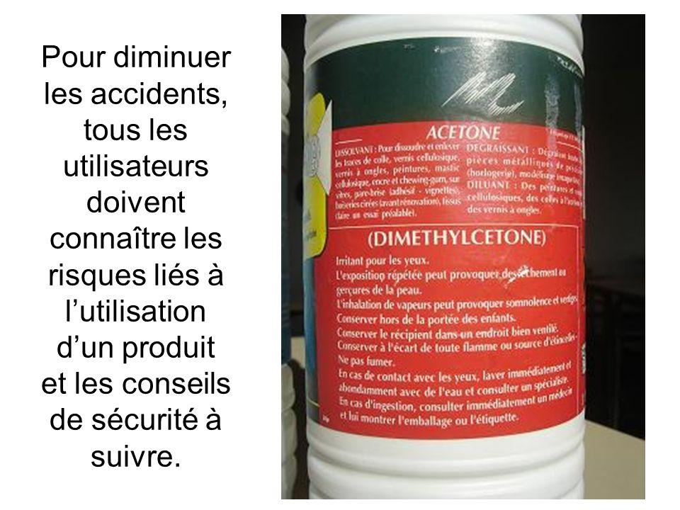 Pour diminuer les accidents, tous les utilisateurs doivent connaître les risques liés à lutilisation dun produit et les conseils de sécurité à suivre.