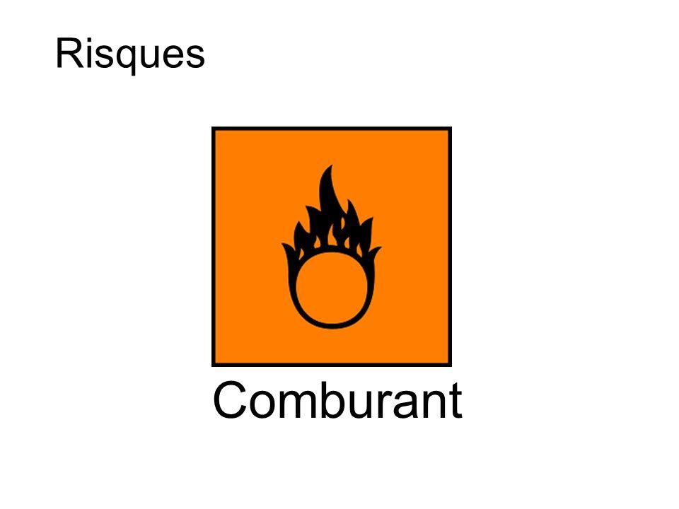 R8 : favorise l inflammation des matières combustibles.