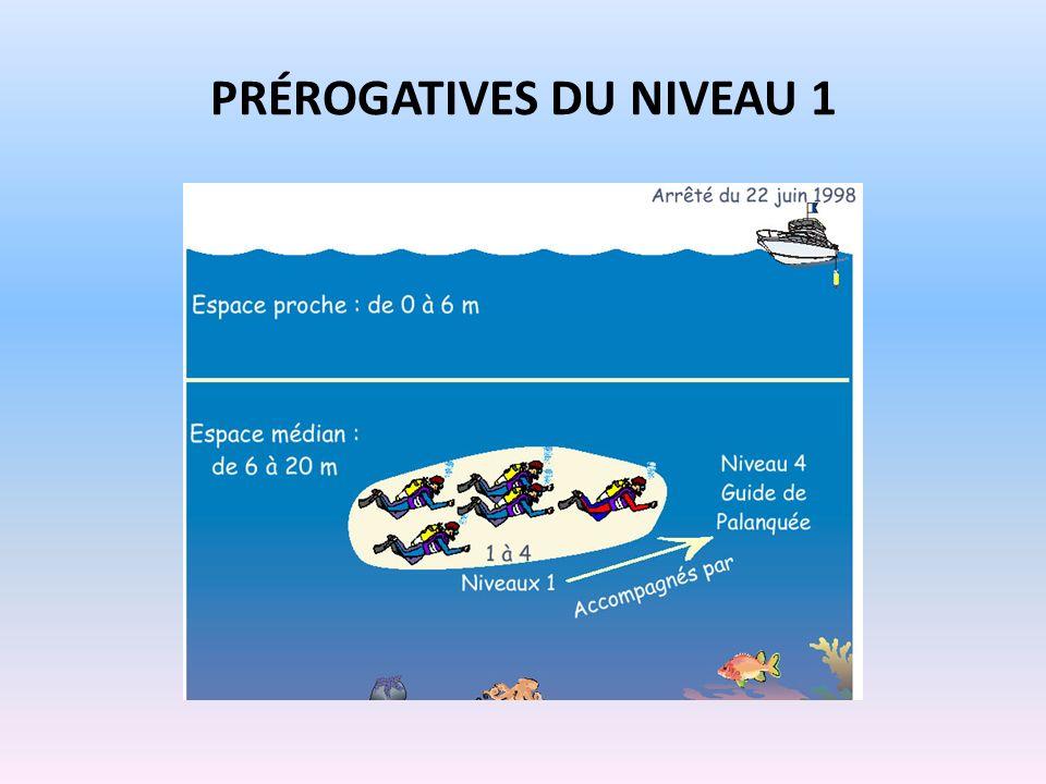 PRÉROGATIVES DU NIVEAU 1