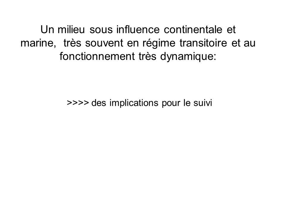 Un milieu sous influence continentale et marine, très souvent en régime transitoire et au fonctionnement très dynamique: >>>> des implications pour le