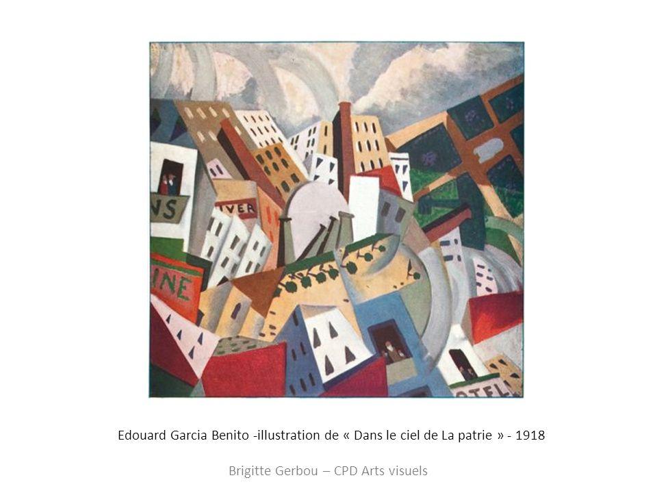 Edouard Garcia Benito -illustration de « Dans le ciel de La patrie » - 1918 Brigitte Gerbou – CPD Arts visuels