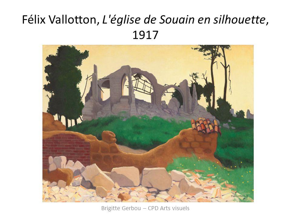 Félix Vallotton, L église de Souain en silhouette, 1917 Brigitte Gerbou – CPD Arts visuels