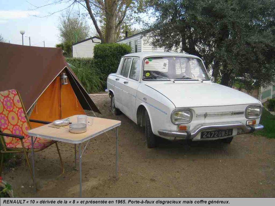 RENAULT « 8 » présentée en 1962 et produite jusquen 1972. Une super Dauphine, mais sans les formes douces