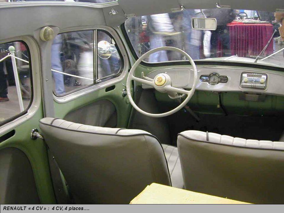 RENAULT « 4 CV ». Le miracle de laprès-guerre. Produite de 1946 à 1961.